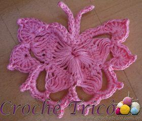 Hairpin lace butterfly motif, bordeleta