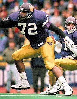 While at UW, Bob Sapp was the 1996 Pac-10 Offensive Lineman of the Year.  Now he's a martial arts star in Japan.