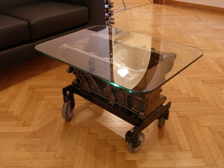 Τραπέζι industrial από μηχανή αυτοκινήτου