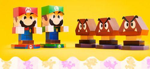 Printable Mario & Luigi Paper Jam papercraft ⊟You don't have...