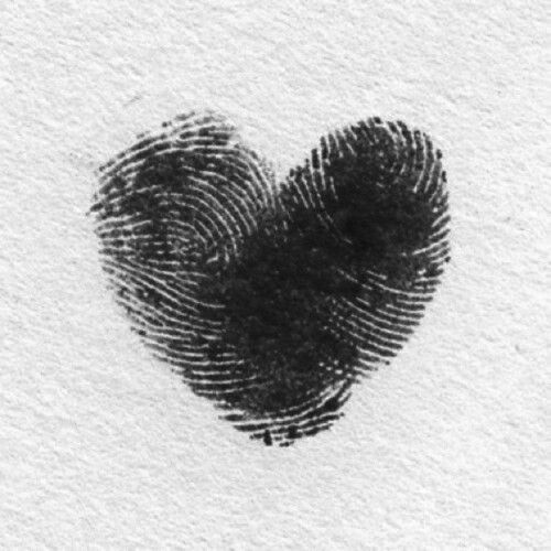 Easy and fun. Thumb print hearts