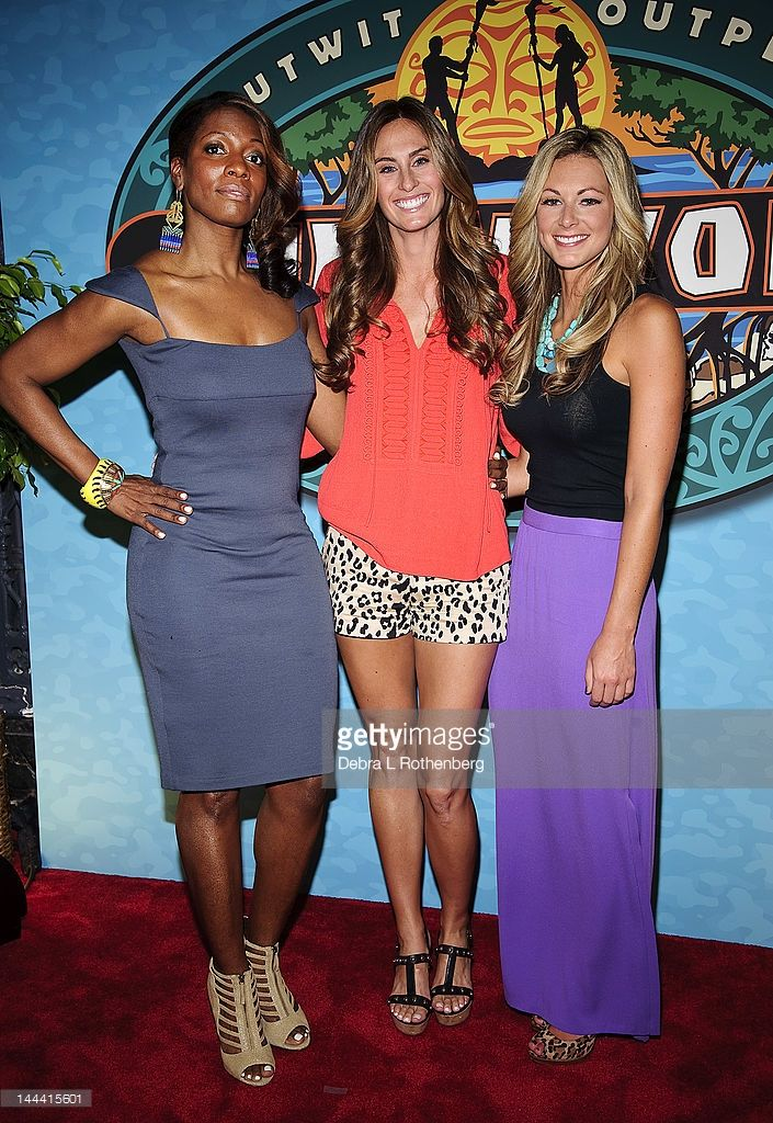 Sabrina Thompson, Survivor One World Winner Kim Spradlin and Chelsea Meissner attend the 'Survivor: One World' Finale at Ed Sullivan Theater on May 13, 2012 in New York City.