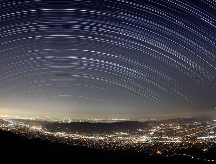 Star trails over San Fernando Valley | Discover Los Angeles