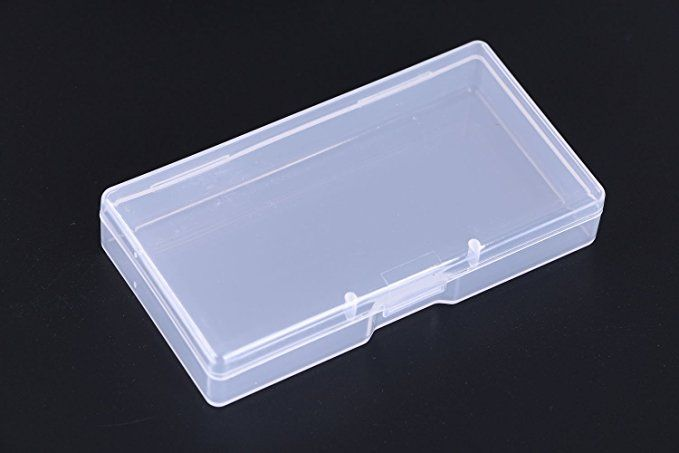 Mini Skater High Transparency Visible Plastic Box Clear Storage Case Collection Organizer Container With Hinged Lid Small Organization Cotton Swab Small Boxes