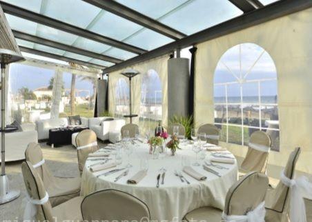 Wedding Reception Outdoors with marquee. Estrella Del Mar Beach Club.