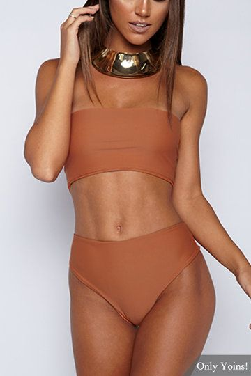 The high-waisted design could be the outstanding feature of this bikini you are fond of! You will feel sexier than ever in this bikini set. As short as sexy, the tube top provides you a sexy wild sensation and curve exposed. Good swimming fabric makes you feel cozy cool.