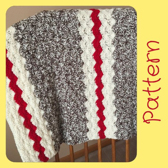 Sock Monkey Baby Blanket Crochet Pattern par LazyLadyCrochetMN
