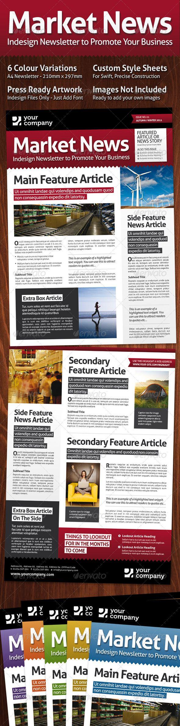 Market News A4 Magazine Style Newsletter 78