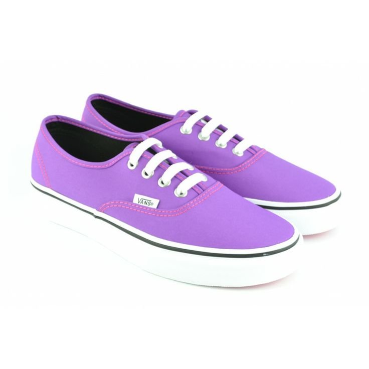 #Zapatillas deportivas de lona malva, modelo básico Authentic con suelas de goma de VANS.
