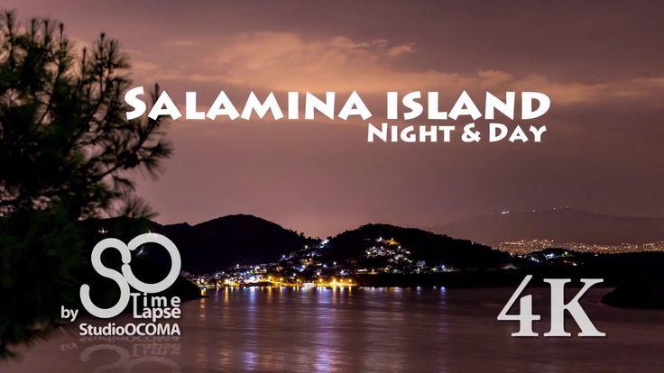 4K Timelapse at Salamina Island + Moonrise, Saronic Gulf, Greece