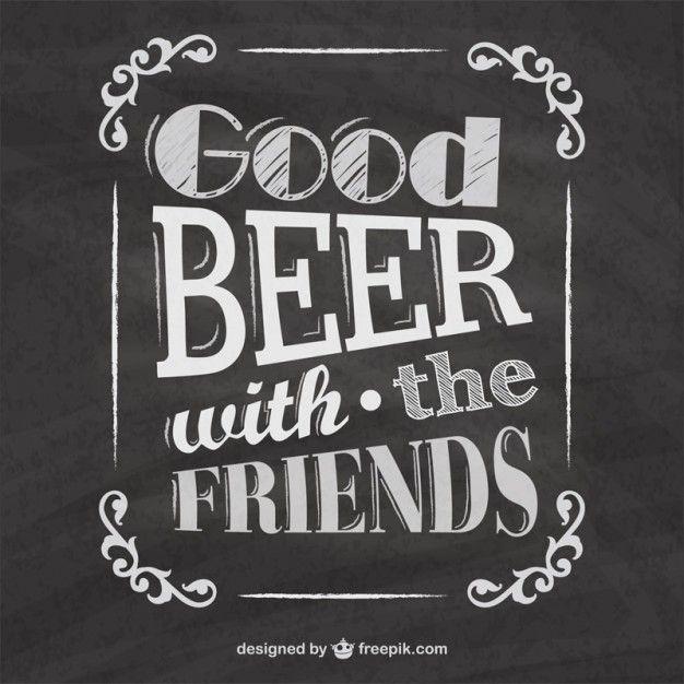 Tipografía de cerveza en pizarra | Descargar Vectores gratis