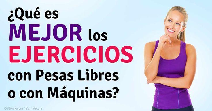 Usar pesas libres le permite utilizar más músculos, ya que tiene que trabajar para estabilizar el peso al levantarlo. http://ejercicios.mercola.com/sitios/ejercicios/archivo/2014/12/12/pesas-libres-contra-maquinas-de-pesas.aspx