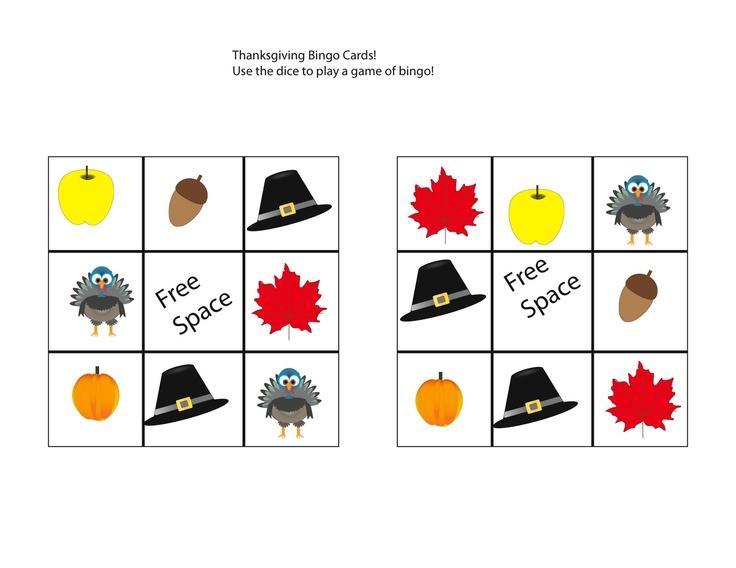 Free Thanksgiving game Printables