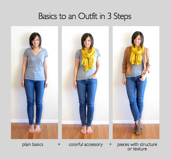 Basics to an outfit in 3 steps // basic plus // basic grey tee // scarf // errands // spring // summer // fall // winter // jeans // leather jacket // boots // flats // casual