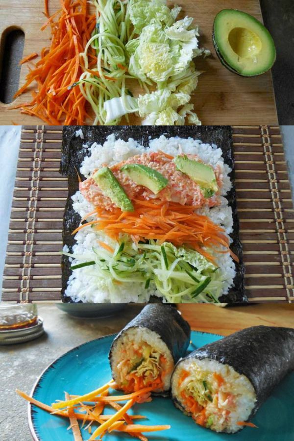 How to make a sushi burrito, also known as a sushirrito!