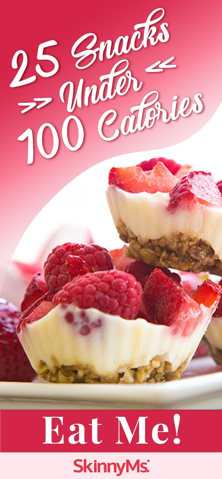25 Snacks Under 100 Calories--take 'em to work! #snacks #quick #easy