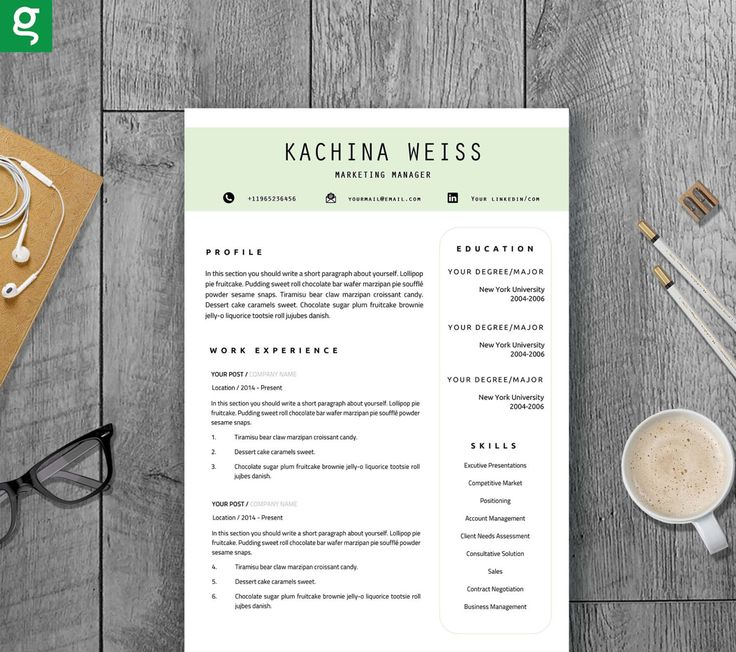 creative resume template instant download for word  us