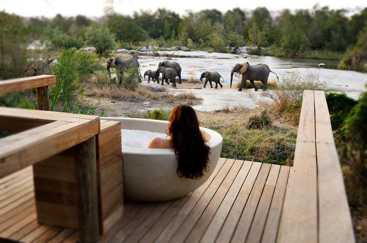 Take a bubble bath in the wild at Londolozi