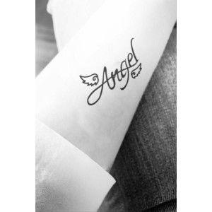 2pcs Angel Wing tattoo - InknArt Temporary Tattoo - quote tattoo wrist sticker fake tattoo tiny bird love