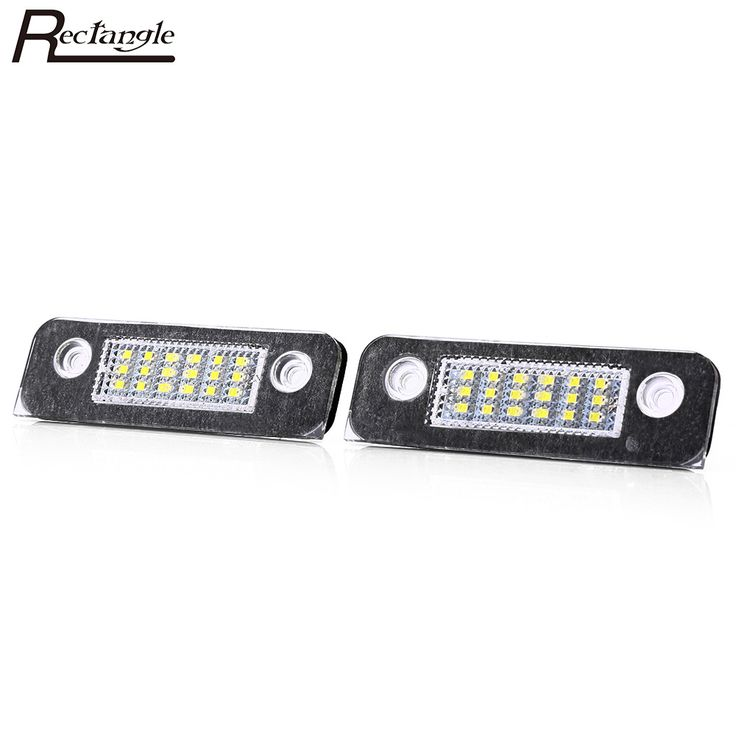 Rectangle Pair of Car License Plate Lamp LED Light  Perfect fit for Ford Fiesta 1996 - 2000 Easy to install