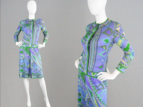 Vintage 60s EMILIO PUCCI Silk Jersey Shift Dress by ZeusVintage