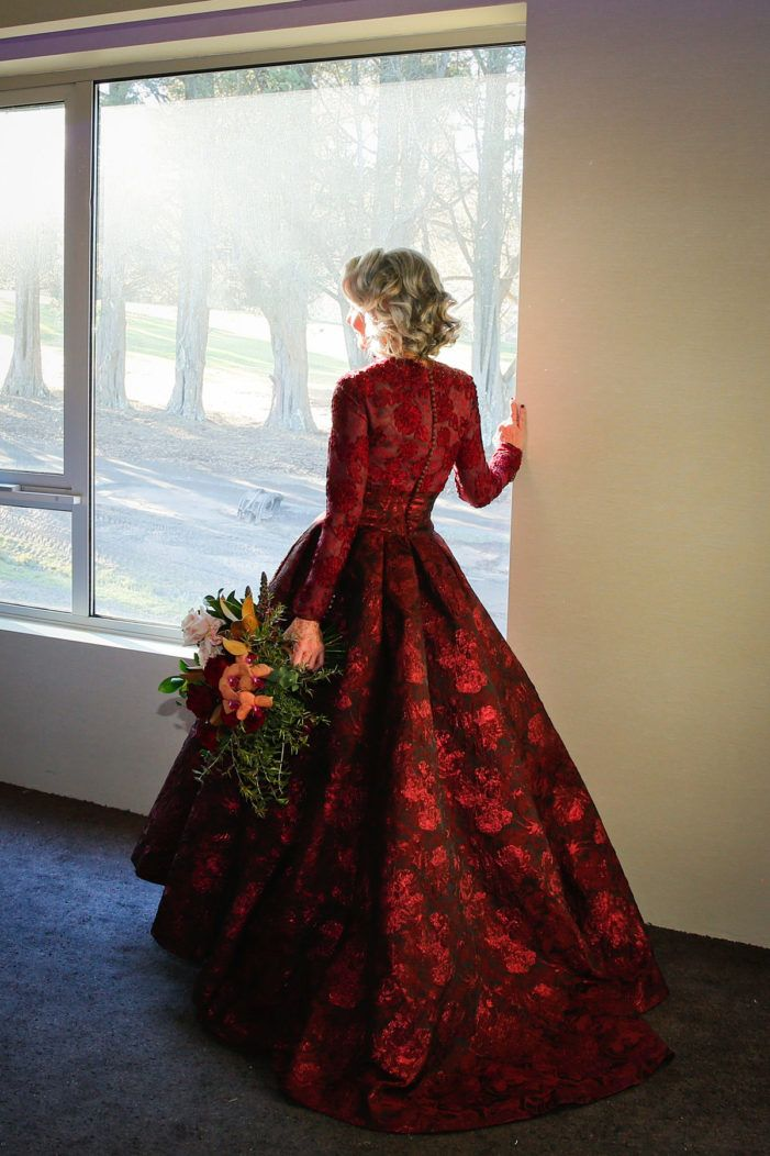 Holiday Winter Wedding Inspiration Red Wedding Gowns Red Wedding Dresses Red Bridal Dress