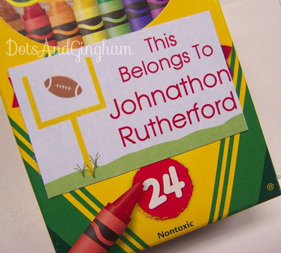 Football Back to School Printable Stickers Labels-Etsy, $6.00