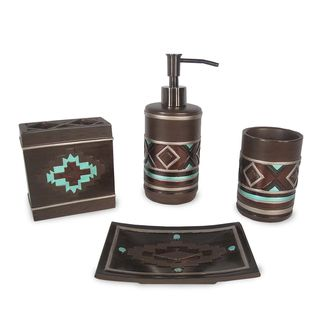 Veratex Pueblo 4-piece Bath Accessory Set | Overstock.com Shopping - The Best Prices on Veratex Bathroom Accessory Sets