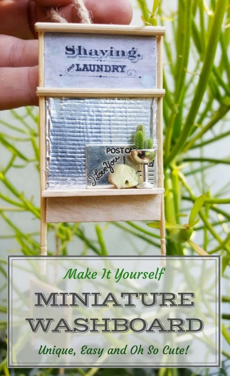 This is such an adorable idea. Miniature washboard ornaments that are super easy to make