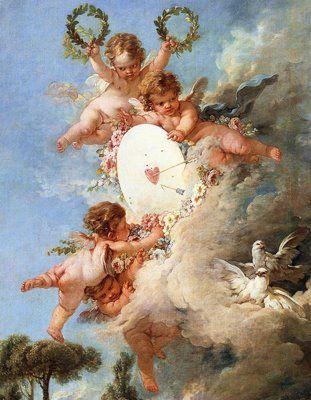 Cupid's Target, from 'Les Amours des Dieux' (1758), by François Boucher