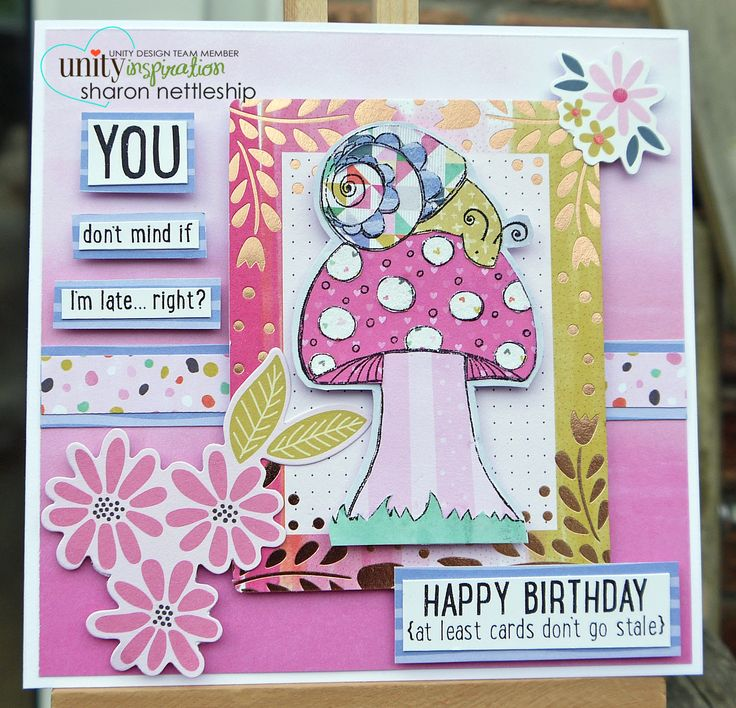 Unity Stamps - Happy Snail Mail Sentiment Kit