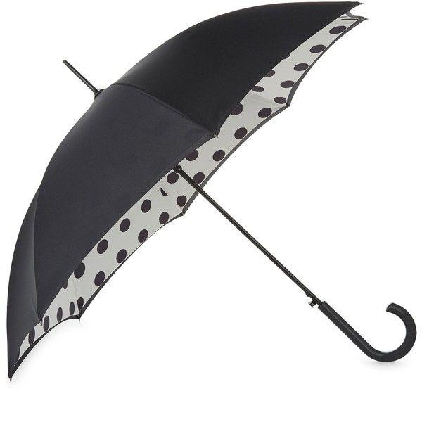 FULTON Bloomsbury polka dot umbrella ($36) ❤ liked on Polyvore featuring accessories, umbrellas, fulton, polka dot umbrella, dot umbrella and fulton umbrella