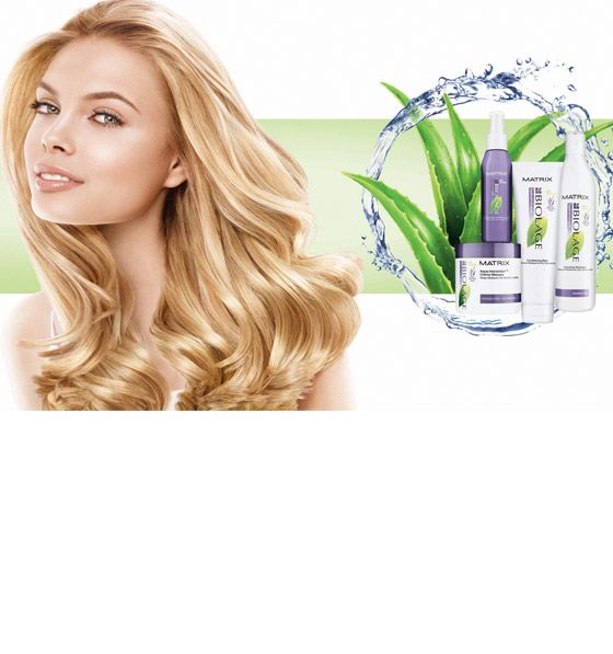 Matrix Hydratherapie Shampoo and Conditioner soft hair! smells like aloe and passionfruit