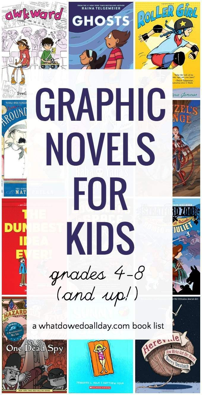 Top Graphic novels for kids - grades 4 through 8, ages 9 and up.