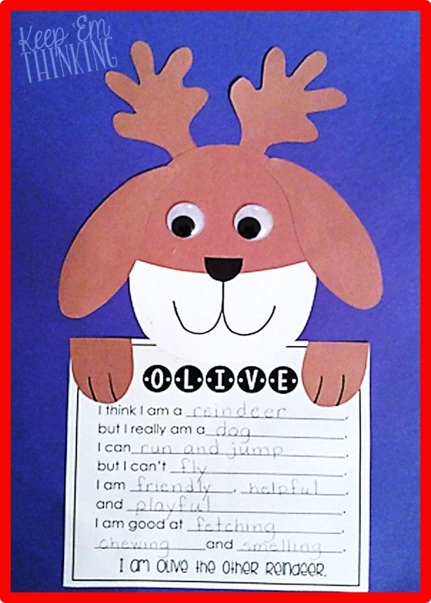 Fun Olive the Other Reindeer craftivity! $