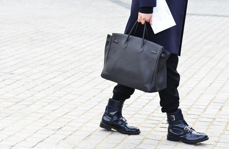 .: Boyfriends Style, Black Bags, Bags Mensfashion, Men Style, Hermes Birkin Men, Men Bags, Street Styles, Men'S Bags, Men'S Fashion