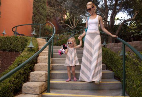 Chevron Maxi Skirt & matching dress http://www.sewweekly.com/2012/07/the-twinners-are-winners-chevron-maxi-skirt/