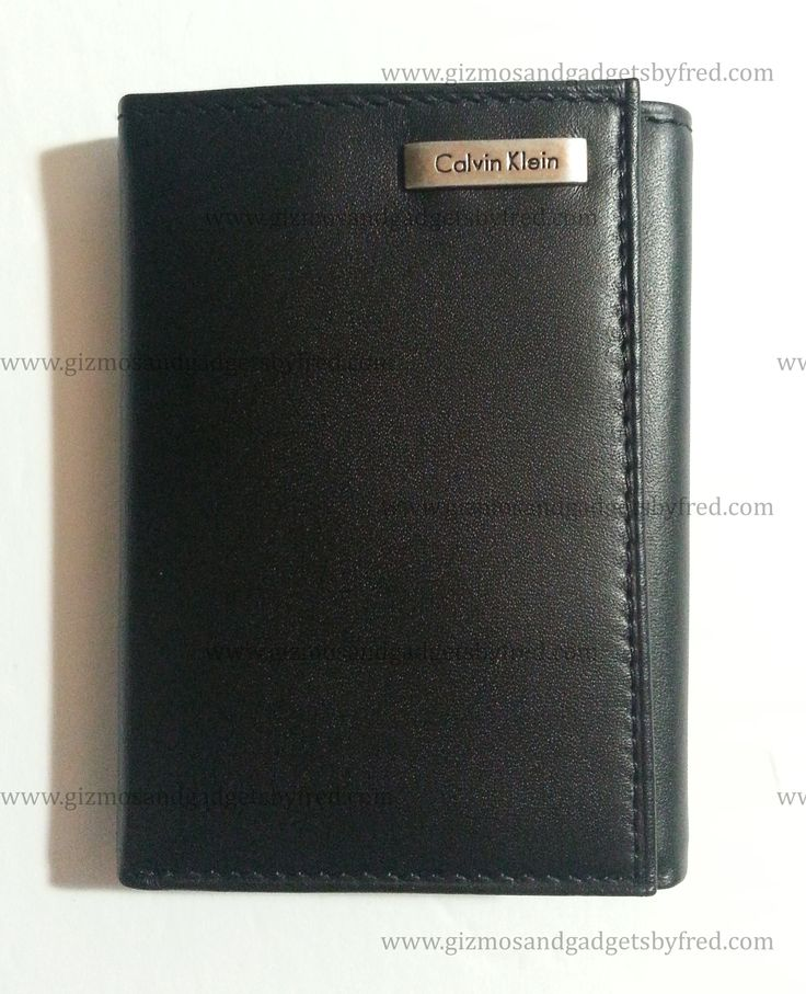 Beautiful Calvin Klein wallet. Trifold model in genuine leather. www.gizmosandgadgetsbyfred.com