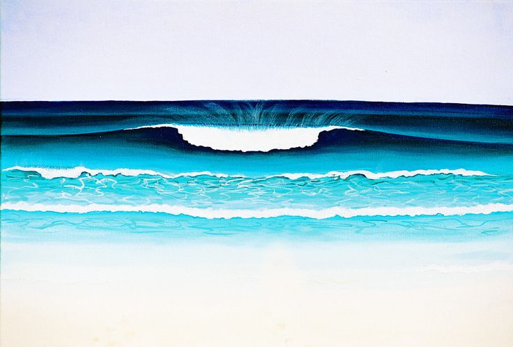 This painting is the center piece of three in an artwork that takes in the entire expanse of Yallingup Bay.