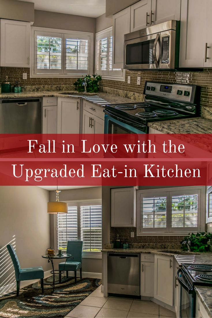 Captivating ... Eat In Kitchen Of This Reduced Price Condo For Sale In St Petersburg FL  Which Includes Shaker Maple Cabinets, Leather Finish Granite Countertops,  ...