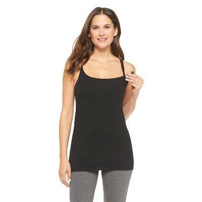 Women's Nursing Cotton Cami Black L