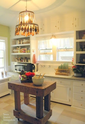 {Bees Knees Bungalow}: Bachman's 2011 Summer Ideas House: Pt IIOpen Shelves, Lights Fixtures, Ideas House, 2011 Summer, Farmhouse Sinks, Bees Knee, Wooden Spoons, Block Island, Summer Ideas