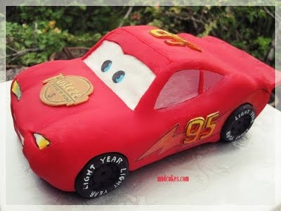 Mom & Daughter Cakes: Mc Queen Car Cake - On The Road In Penang