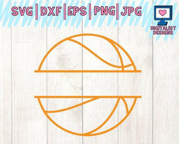 basketball monogram svg, split monogram svg, basketball vector, cricut cut files, silhouette, basket