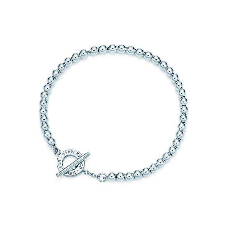 Tiffany Beads toggle bracelet in sterling silver, medium.
