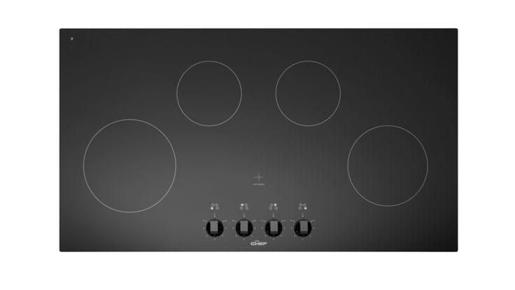 Chef 90cm with 4 Zone Ceramic Cooktop - Black - Cooktops - Appliances - Kitchen Appliances   Harvey Norman Australia