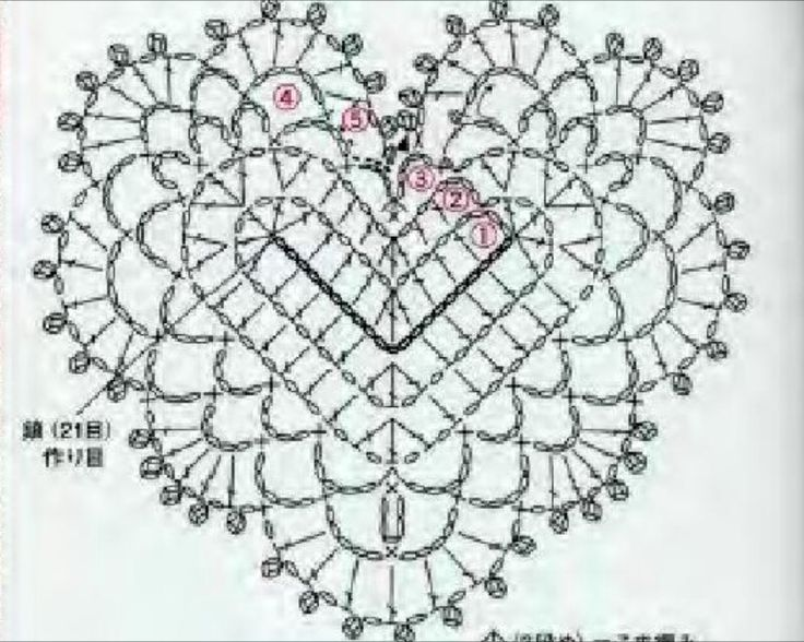 2374 best coraes de croch images on pinterest coraes de crochet heart diagram from asahi crochet magazine ccuart Gallery