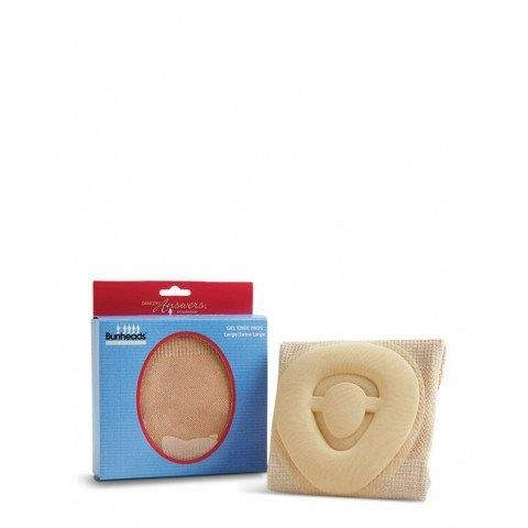 """""""Bunheads Gel Knee Pad - Large  The first gel knee pad designed specifically for dancers  Bamboo knit fabric and contoured silicone knee pad provides comfortable support and protection without bulk Slips on and stays in place Won't roll in the back of the knee Nude fabric makes them less visible on stage"""""""