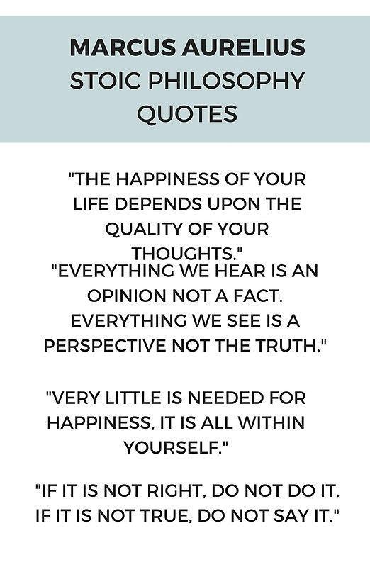 'Stoic Philosophy Quote by Marcus Aurelius' Po…