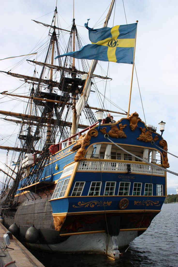 "Arrgggh, ye scurvy scalawag, she be a mighty fine Pirate ship !  This is the Swedish ship ""Götheborg""an (almost) exact replica of the original East Asian trading ship who sank just outside Gothenburg in 1745. Pirates!"